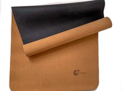 AQ Yoga Mat – Natural Cork and Rubber – Anti-Slip Lightweight – Clean Cork Design